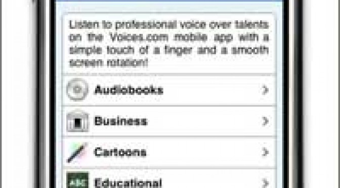 Voices iPhone mobile app