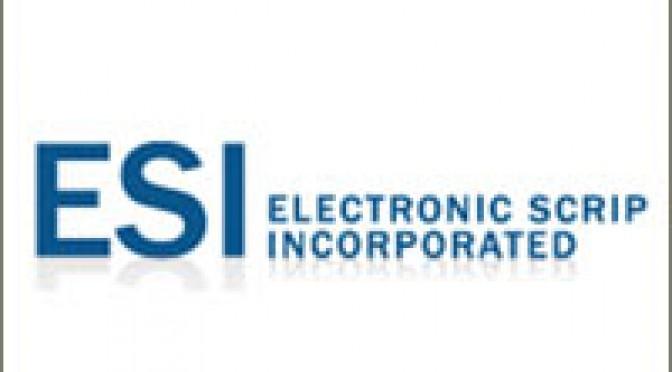 ESI - Electronic Scrip Inc